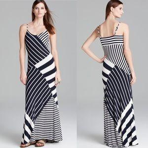 Vince Camuto Navy & White Stripe Maxi Dress Small